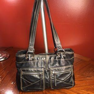 Vintage Tignanello Black Leather Shoulderbag